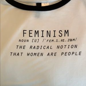 Divided Tops - Soft feminism t-shirt